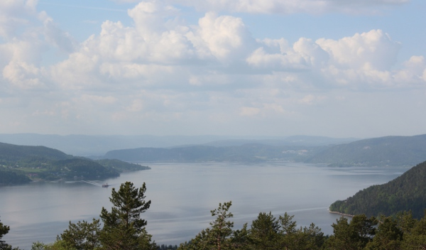 Utsikt over Drammensfjorden