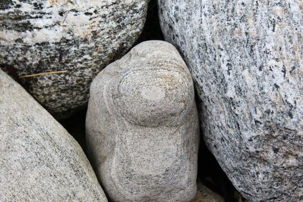 Lyse steiner i fjæra