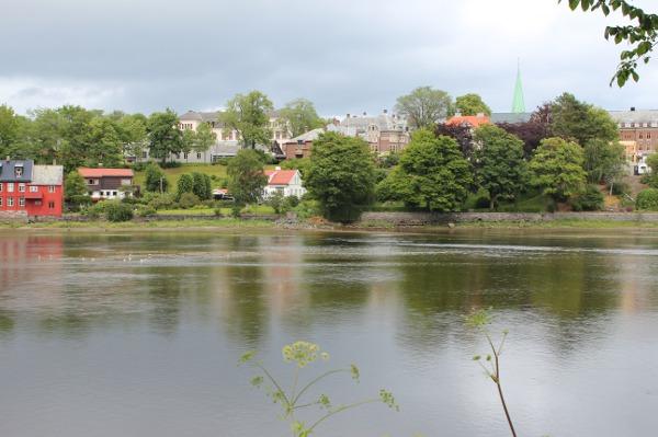 Nidelva og Sentrum sett fra Øya i Trondeim