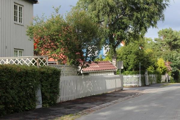 Gater og hager på Øya i Trondheim