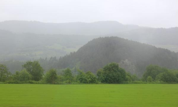 Regntungt landskap